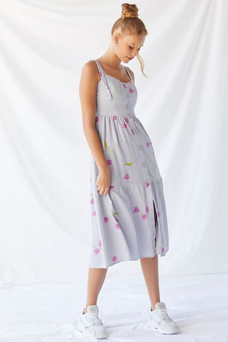 d90f321b206 UO Positano Tie-Shoulder Midi Dress