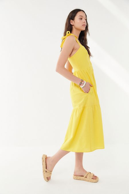 908ffd9c2ba UO Positano Tie-Shoulder Midi Dress