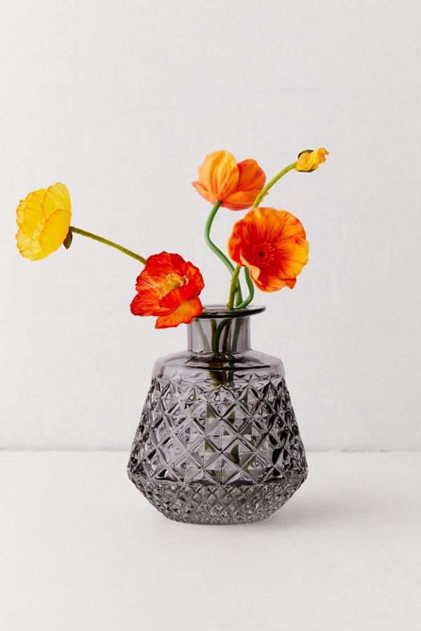 Cara Short Glass Vase by Urban Outfitters