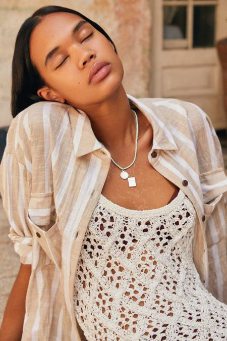 eba31d8686 UO Cassidy Cotton Button-Down Shirt