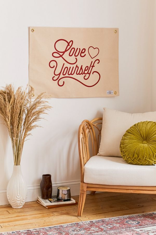 Love Yourself Flag Tapestry by Urban Outfitters