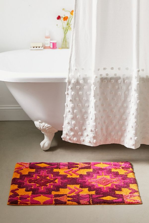 Slide View: 1: Nahla Southwest Bath Mat