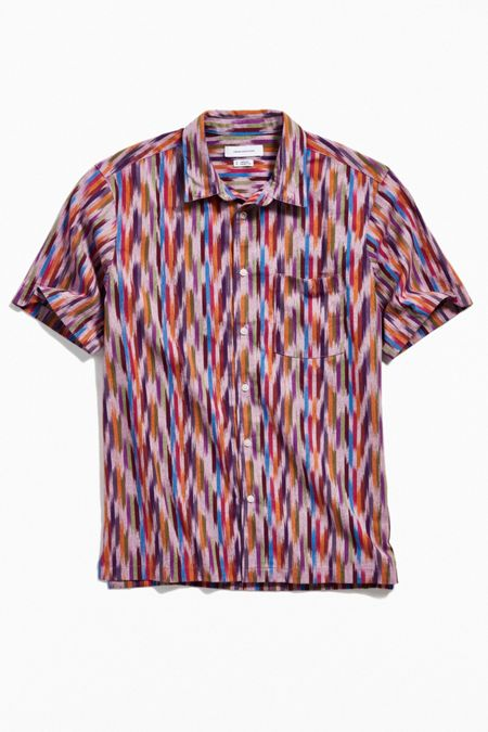 659931e93eeb09 UO Ikat Short Sleeve Button-Down Shirt