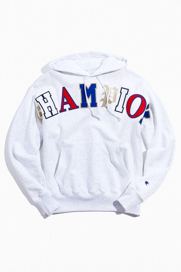 Champion Old English Hoodie Sweatshirt by Champion