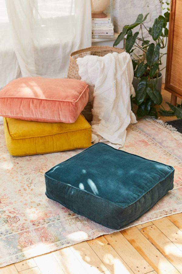 Slide View: 1: Chloe Velvet Floor Pillow