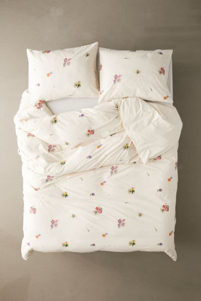 Georgine Embroidered Floral Duvet Cover Urban Outfitters