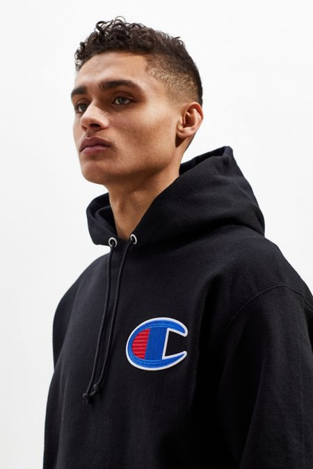 Champion Big C Chain Stitch Reverse Weave Hoodie Sweatshirt