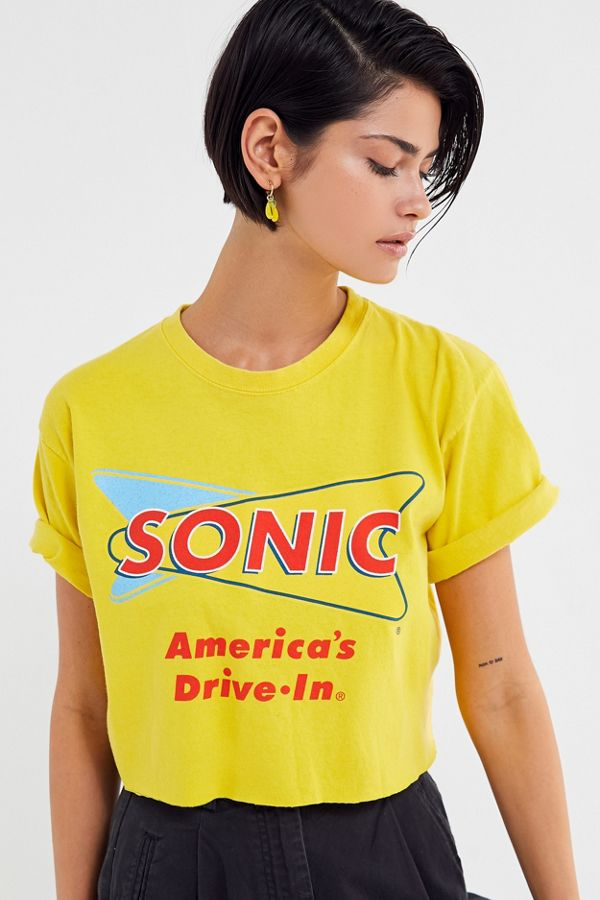 979bde24590f Sonic Cutoff Cropped Tee | Urban Outfitters Canada