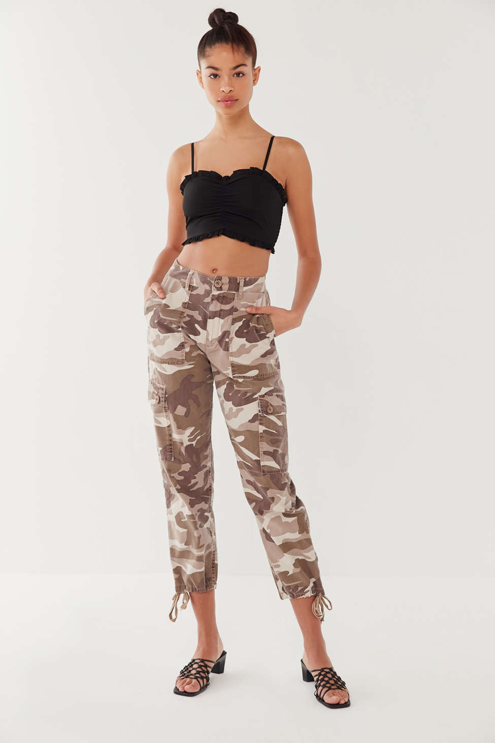 Uo Harrison Ruched Cropped Cami by Urban Outfitters
