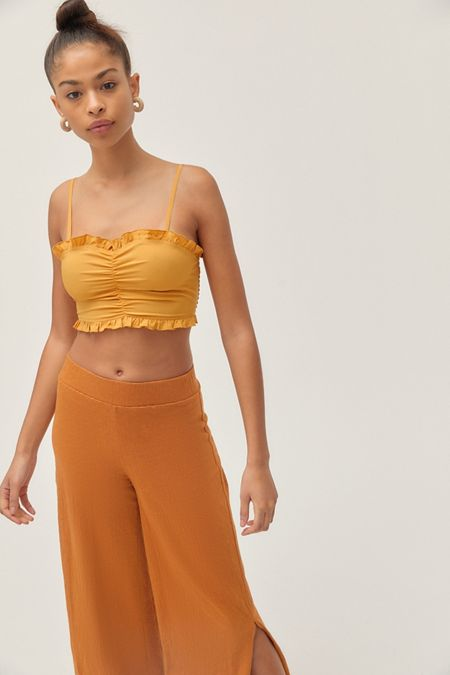 d21dd94773a98 UO Harrison Ruched Cropped Cami