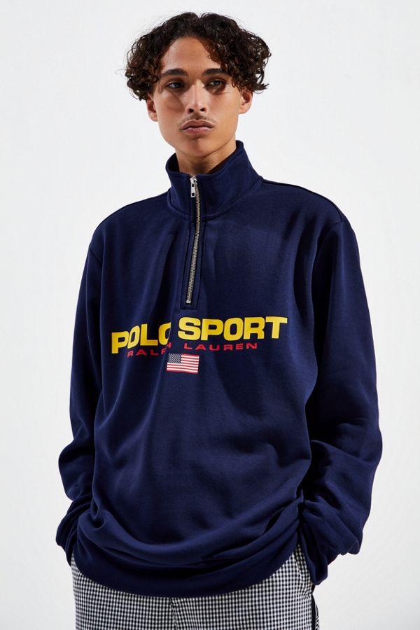 Ralph Lauren Sport Sweatshirt Polo Zip Half J5TuF13lcK