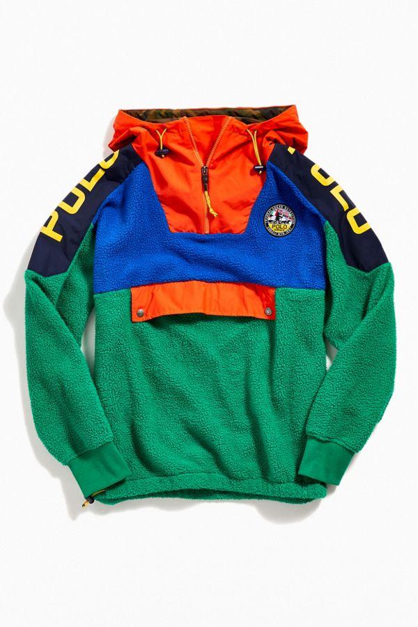 größte Auswahl an extrem einzigartig Großhandelsverkauf Polo Ralph Lauren Colorblock Fleece Hoodie Sweatshirt