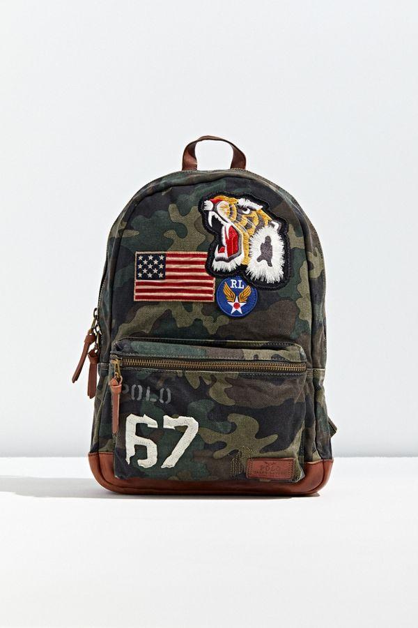 Canvas Ralph Lauren Backpack Camo Polo uFK3cJTl1