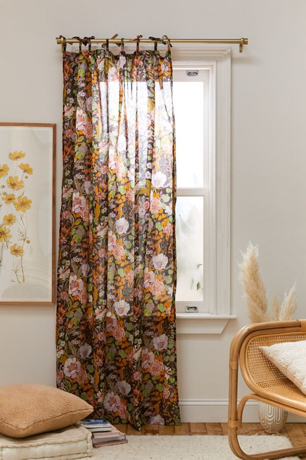 Slide View: 1: Mila Floral Window Panel