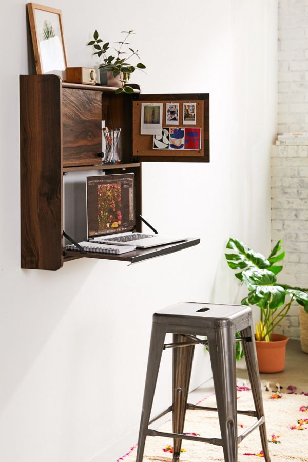 Slide View: 1: Murray Wall-Mounted Desk