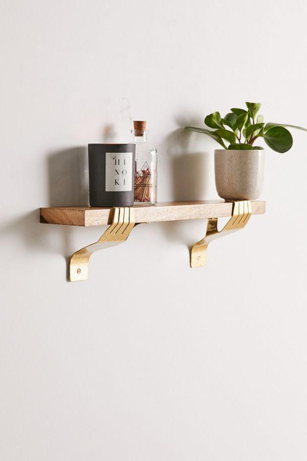 Slide View: 1: Hand Bracket Wall Shelf