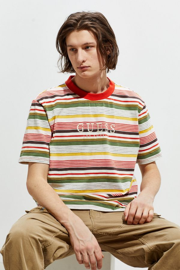 aa2a9f2457d6 GUESS Brighton Striped Tee   Urban Outfitters