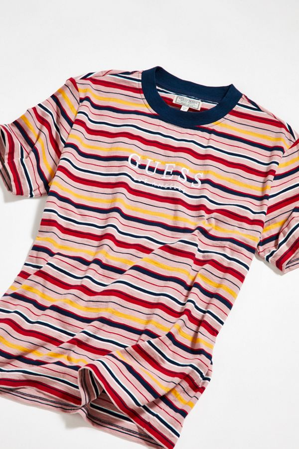 87bba9bcba90 GUESS Pop Art Striped Tee | Urban Outfitters