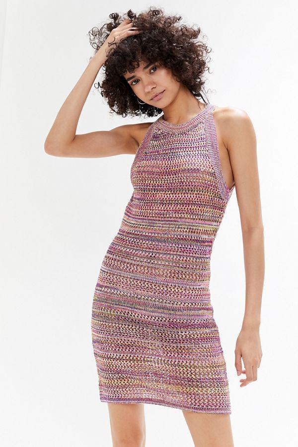 e5119b01e2 Slide View  1  UO Crochet High-Neck Sweater Dress