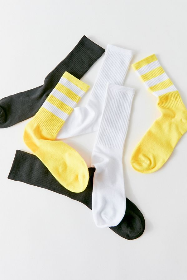 Athletic Crew Sock 3 Pack by Urban Outfitters