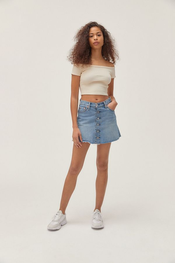 168d5cc6a34 UO Ribbed Off-The-Shoulder Cropped Top | Urban Outfitters