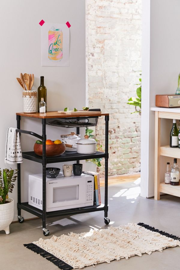 Slide View: 1: Rolling Kitchen Cart