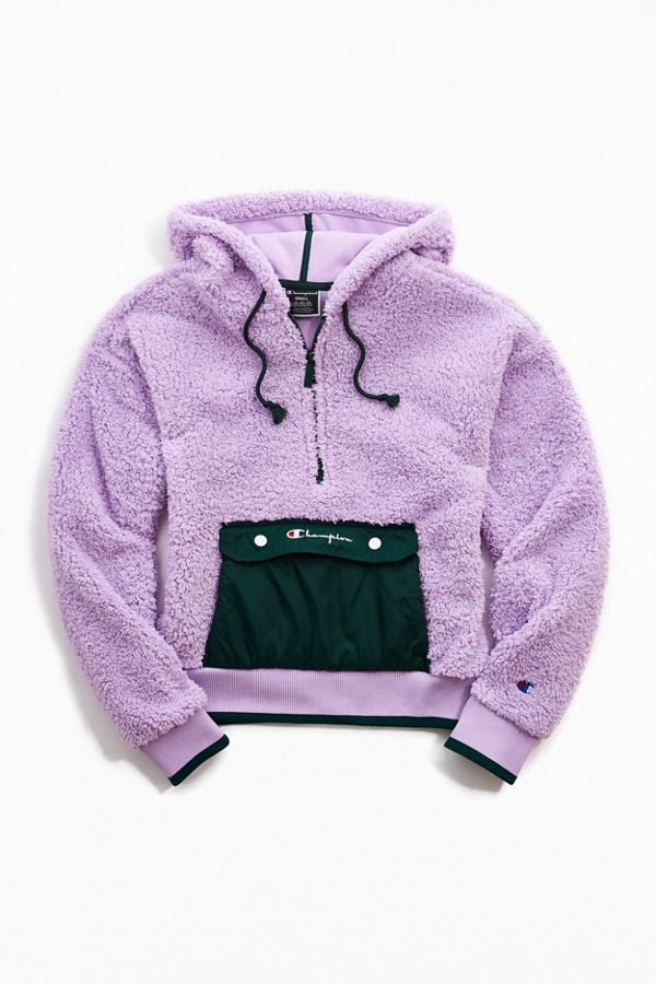 Champion UO Exclusive Sherpa Half Zip Sweatshirt