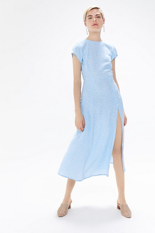 8571411f844c UO Lindsey Cap-Sleeve Midi Dress | Urban Outfitters