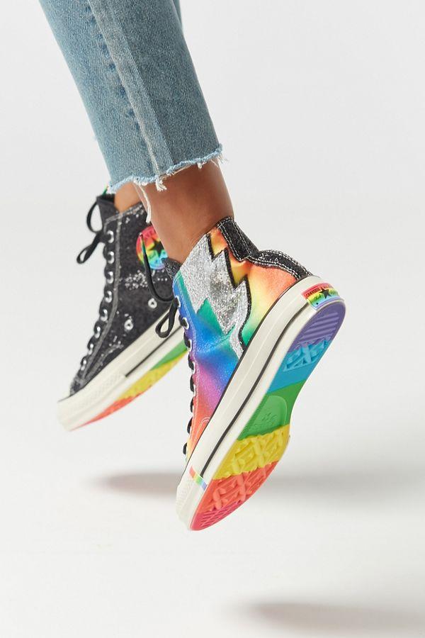 Perfect Converse Pride Chuck Patch Rainbow T Shirt Mens