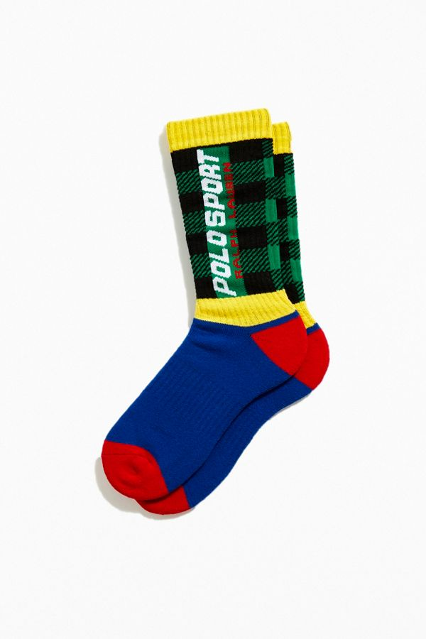 Polo Ralph Lauren Buffalo Plaid Crew Sock by Polo Ralph Lauren