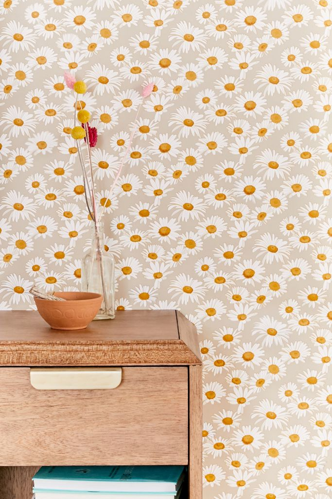 Daisies Removable Wallpaper Urban Outfitters