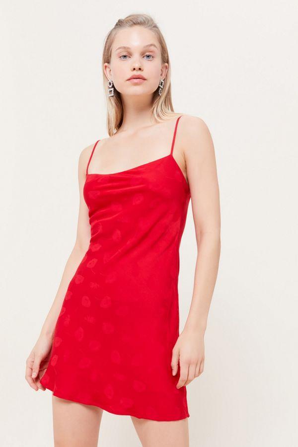 top brands cute cheap most popular Third Form Mosaic Bias Cut Mini Slip Dress | Urban Outfitters