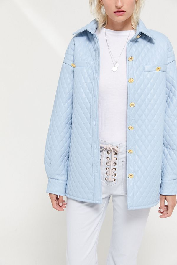 91590be1f98 House Of Sunny Quilted Shirt Jacket