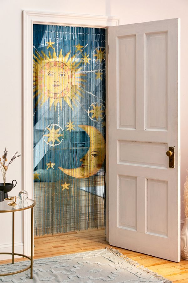Slide View: 1: Solar Bamboo Beaded Curtain