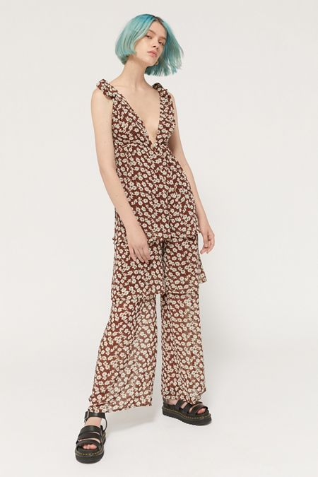 9a6b6471e984 brown - Dresses + Rompers on Sale   Urban Outfitters