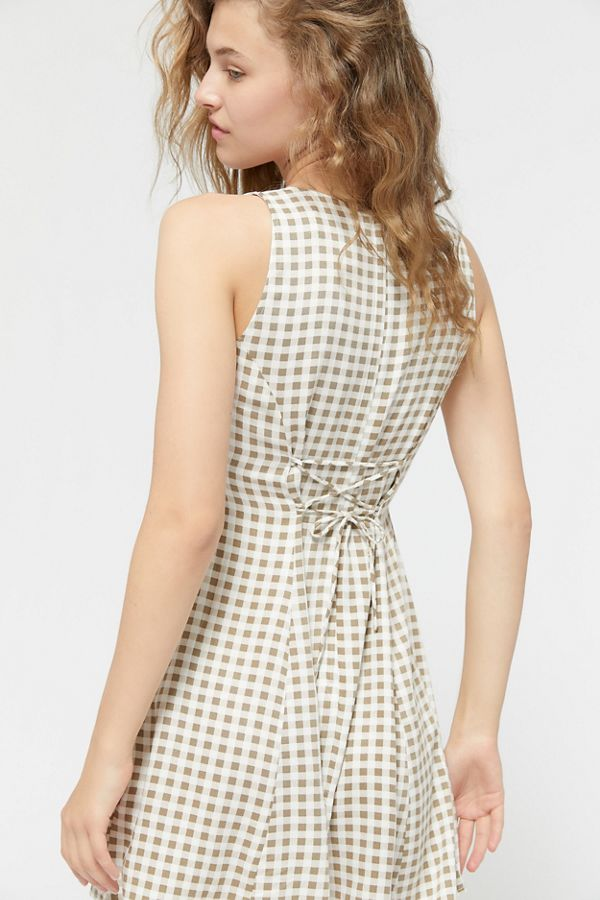 best selection of info for wide selection of colours and designs UO Arden Lace-Up Back Mini Dress