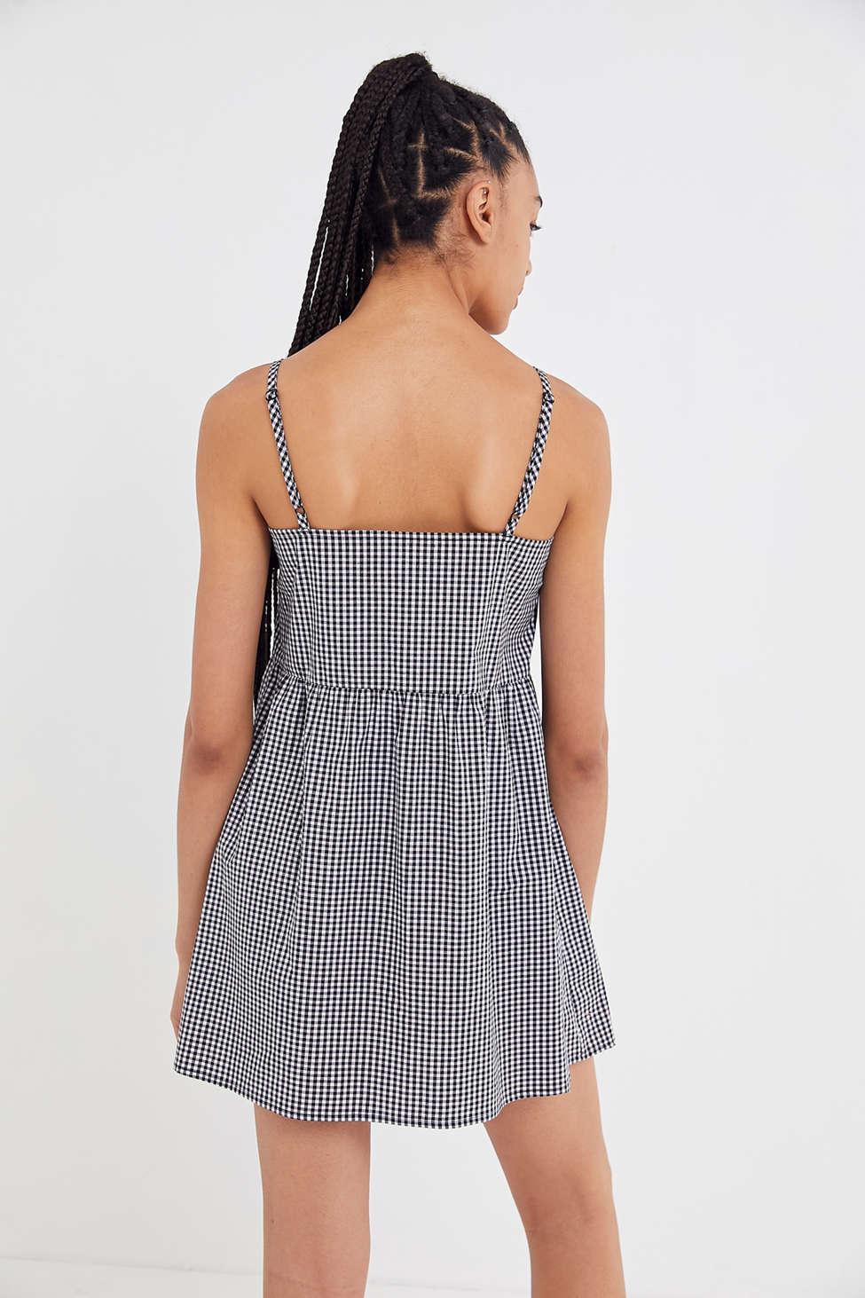 Urban Renewal Remnants Gingham Sleeveless Babydoll Dress by Urban Renewal