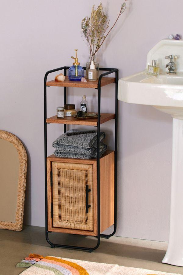 Slide View: 1: Mikko Bathroom Storage Cabinet
