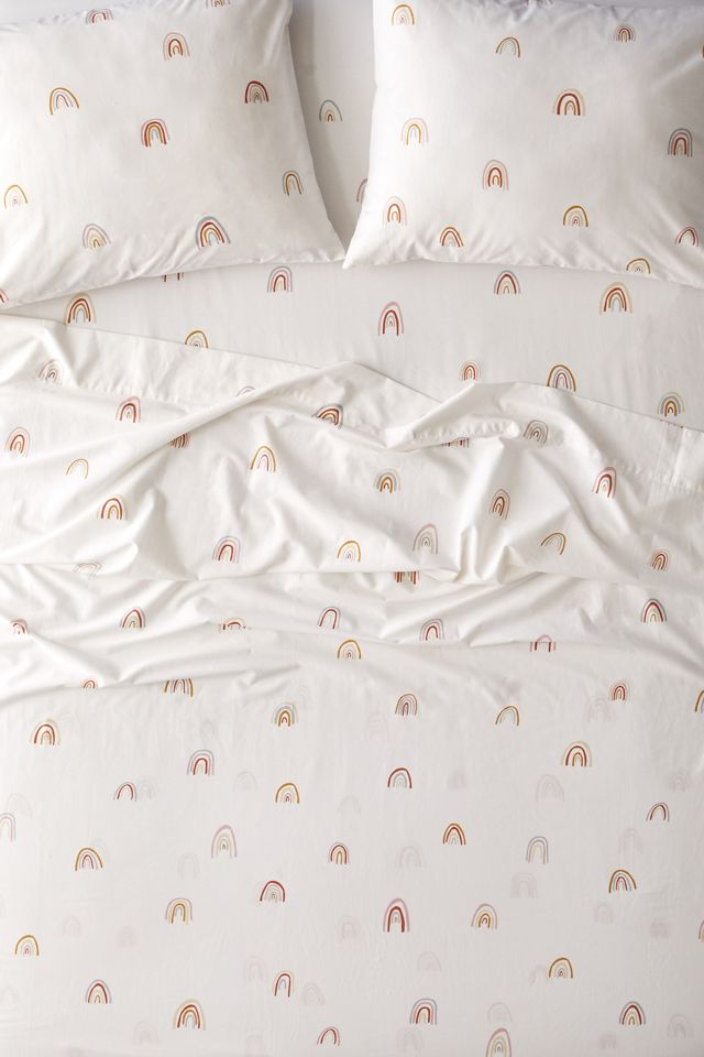 Allover Rainbows Sheet Set Urban Outfitters