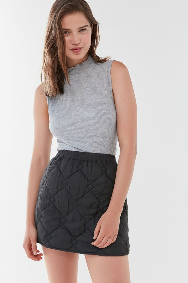 Uo Ridley Quilted Mini Skirt by Urban Outfitters