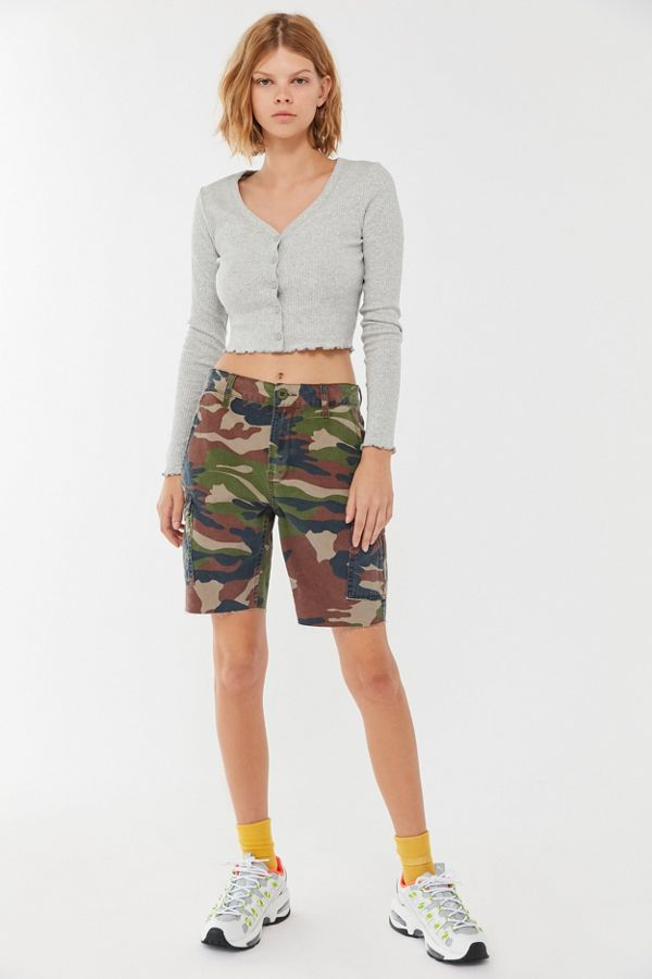 Uo Stella Button Front Cropped Cardigan by Urban Outfitters