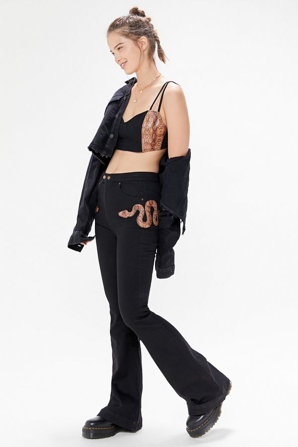 Uo Python High Rise Flare Pant by Urban Outfitters
