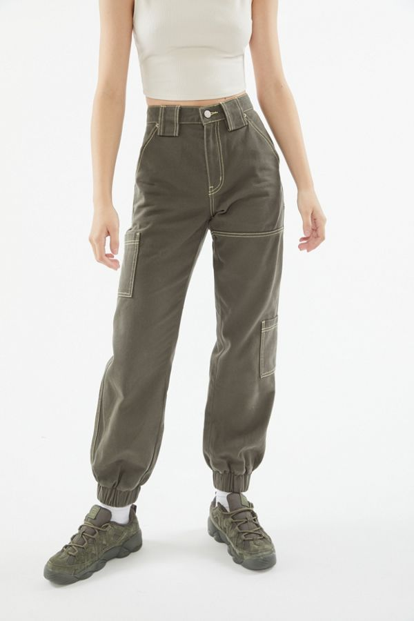 most desirable fashion amazing price choose latest BDG High-Waisted Cargo Jogger Jean – Olive