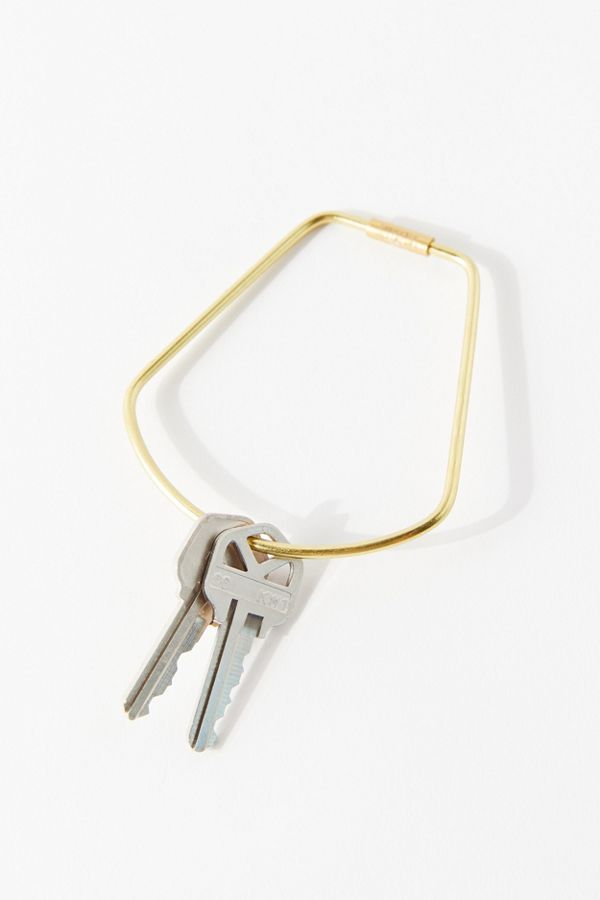 Areaware Contour Brass Bell Keyring by Areaware