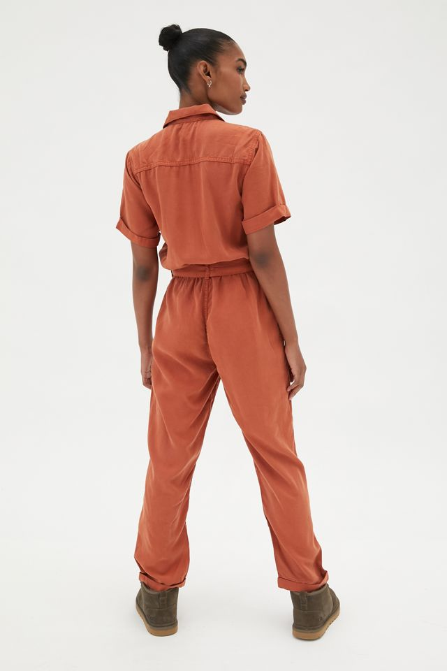 UO Victory Zip-Front Coverall Jumpsuit | Urban Outfitters