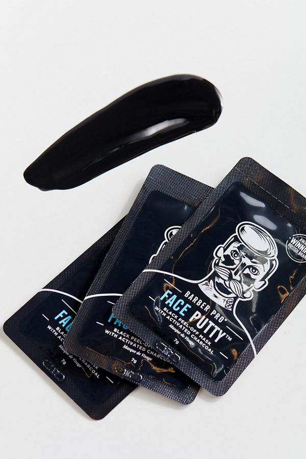 Slide View: 1: BARBER PRO Face Putty Charcoal Peel-Off Mask