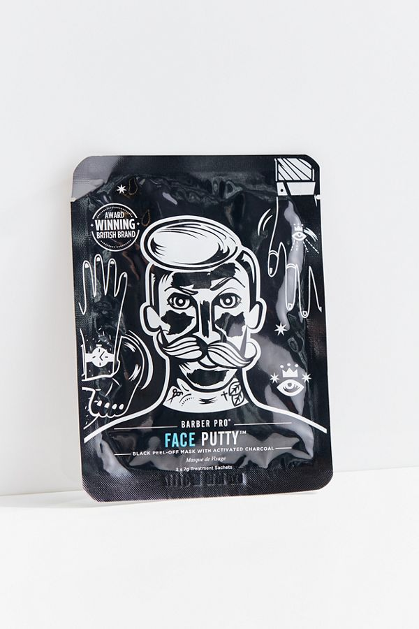 Slide View: 2: BARBER PRO Face Putty Charcoal Peel-Off Mask