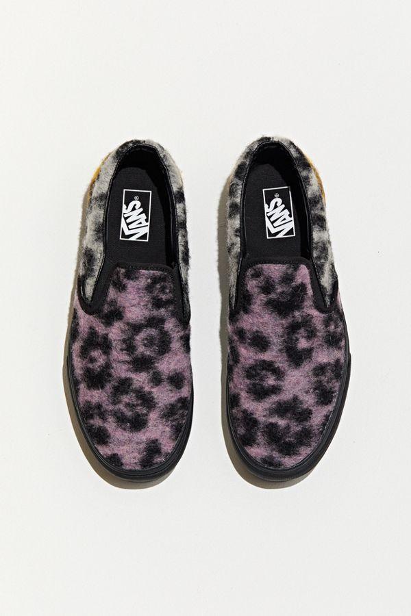 vans slip on leopard