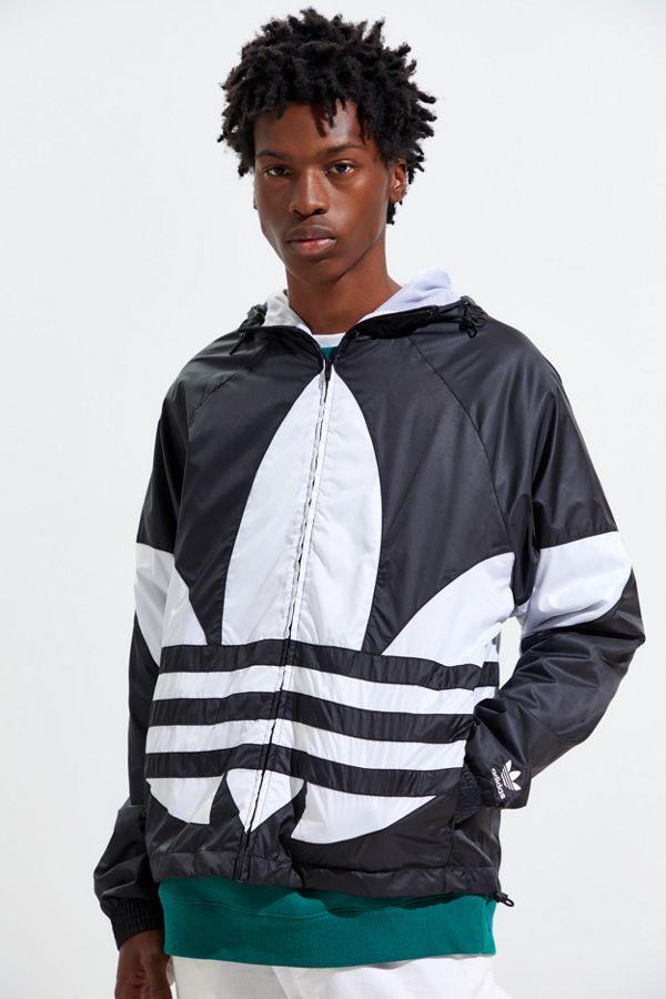 Veste coupe vent Adidas avec logo surdimensionné de la marque