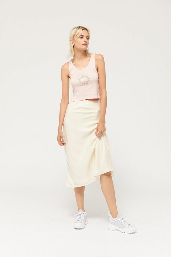ee22fd6215d Truly Madly Deeply Rose Cropped Tank Top | Urban Outfitters